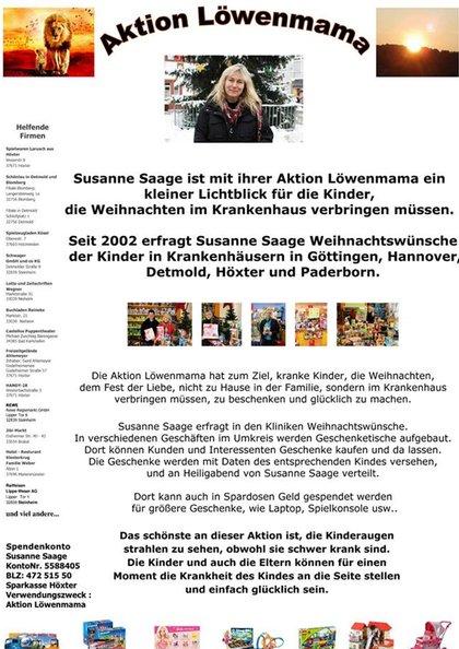 Weihnachtswünsche Für Einen Kranken.Aktion Löwenmama Susanne Saage